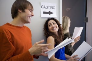 Three People at Casting Call