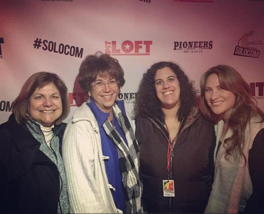 "Stephanie and her family at the premiere of ""Walk With Me"" during SOLOCOM 2016"