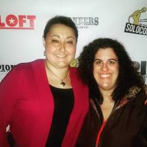 "Stephanie and a friend at the premiere of ""Walk With Me"" during the 4th Annual SOLOCOM Festival"