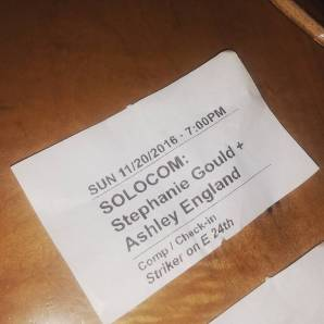 "Ticket for ""Walk with Me"" at SOLOCOM 2016"