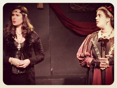"with Rachel Handler in ""Richard III"""