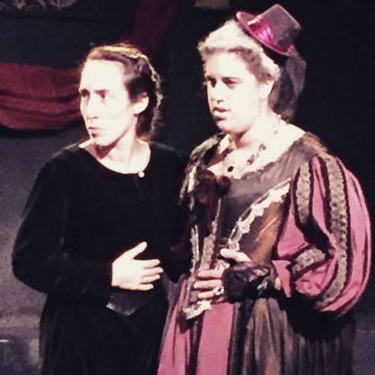 "with Diana Benigno in ""Richard III"""